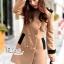 Korean woolen coat collar double-breasted wool coat thumbnail 4
