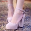 """รองเท้าส้นสูง รัดส้น สไตส์ Korea วัสดุ ทำจาก เนื้อผัากำมะยี่อย่างดี เนื้อนุ่มสุดๆ ติดอไหล่ะเพชรที่สายรัดข้อเท้า"""" thumbnail 4"""