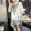 เสื้อผ้าเกาหลี พร้อมส่ง แมตช์เซ็ทเสื้อกับกางเกง เสื้อผ้า cotton แขนจั๊มตุ๊กตา thumbnail 2