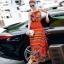 ชุดเดรสเกาหลี พร้อมส่งเดรสตัวยาว สีส้มโทนสดใส thumbnail 1
