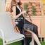Elegant Stitch Black&White Long Dress thumbnail 4