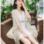 Cadie Pearl Flower Embroidered Fringed Lace Tunic thumbnail 1
