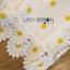 เสื้อผ้าเกาหลี พร้อมส่งเซ็ตเสื้อและกางเกงผ้าลูกไม้ลายดอกเดซี่สีขาว-เหลือง thumbnail 11