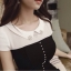 ( พร้อมส่งเสื้อผ้าเกาหลี) เดรสงานเกาหลีสไตล์เรียบหรูดูดี ประดับมุก แต่งเพชรตรงช่วงคอ ดีเทลต่อผ้าอัดพลีทช่วงชายกระโปรง งานสวยปราณีต เข้ากันอย่างลงตัว ดูลุ๊คคุณหนู celeb เนื้อผ้าเนื้องาน pattern/cutting สวยสมราคา thumbnail 3