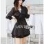 Jasmine Feminine Chic Black Outer Dress thumbnail 2