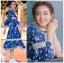 Blooming Flower Printed Chiffon Ruffle Maxi Dress thumbnail 6