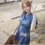 ( พร้อมส่งเสื้อผ้าเกาหลี) เดรสเชิ้ตผ้าเดนิมสไตล์คันทรีแบบโมเดิร์น ตัวนี้ทรงชุดเก๋มาก ช่วงคอเสื้อเป็นทรงเสื้อเชิ้ตติดกระดุมแขนยาว ช่วงเอวเข้ารูป ปลายกระโปรงประดับผ้าจับจีบลูกไม้ thumbnail 1