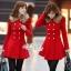 เสื้อผ้าเกาหลี พร้อมส่งเสื้อโค้ทสีแดงแต่งขนเฟอ thumbnail 4