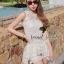 ( พร้อมส่ง) Set White Cami Blossom Lace match with Short by Seoul Secret thumbnail 2