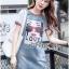 ชุดเดรสเกาหลี พร้อมส่งเดรสผ้าเดนิมพิมพ์ลายสไตล์สตรีทสุดเก๋ thumbnail 2