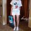 เสื้อผ้าเกาหลี พร้อมส่งเสื้อสกีนลาย Mickey Mouse มาคู่กับกางเกงขาสั้น thumbnail 2