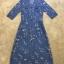 ชุดเดรสเกาหลี พร้อมส่งEmbroidered Floral Denim Dress thumbnail 5