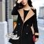 Korean woolen coat collar double-breasted wool coat thumbnail 7