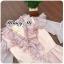 ชุดเดรสแฟชั่นพร้อมส่ง Dressงานคลาสสิคสีชมพู thumbnail 7