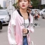 Sara Sporty Chic Floral Embroidered Satin Bomber Jacket thumbnail 5