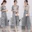 เสื้อผ้าเกาหลี พร้อมส่งMacy Grey - Set เสื้อ+กางเกง+เสื้อคลุม thumbnail 4