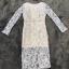 ชุดเดรสเกาหลีพร้อมส่ง ชุดLong dress ลูกไม้สีเทาเรียบหรู thumbnail 6
