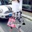 เสื้อผ้าเกาหลี พร้อมส่งChic blossom print pants set thumbnail 1