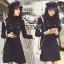 ชุดเดรสเกาหลี พร้อมส่งMini dress ไหมพรมลุคเรียบหรู thumbnail 5