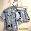 เสื้อผ้าเกาหลีพร้อมส่ง ชุดนอน Set 3 ชิ้น ผ้าเนื้อดี พิมพ์ลาย Line Brown and Friends thumbnail 9