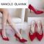 รองเท้าคัชชูส้นสูงสไตล์ Manolo Blahnik ที่ทั้งเริ่ดและทั้งหรู งานเหมือนช้อปเป๊ะเลยจ้า ดีเทลงานผ้าซาติน เงางาม หรูหราฝุดๆ ด้านหน้าประดับอะไหล่ฝังเพชร มีไว้เถอะ มันสวยมากจริงๆ **รุ่นนี้พื้นตีแบรนด์ รับประกันงานเนี้ยบ รีบจองเลยจ้า** สี ทอง น้ำเงิน แดง ดำ ไซส thumbnail 1