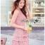 ชุดเดรสเกาหลีพร้อมส่ง มินิเดรสผ้าลูกไม้ Guipure thumbnail 2