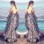LBT Classy Feather V-Back Maxi Dress thumbnail 4