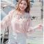 Marissa Flower Lace Bomber Jacket thumbnail 3