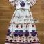 Amelia Colourful Printed White Crepe Dress thumbnail 7