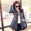 Jeans jacket female spring Korean lace long-sleeved shirt thumbnail 4