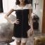( พร้อมส่งเสื้อผ้าเกาหลี) เดรสงานเกาหลีสไตล์เรียบหรูดูดี ประดับมุก แต่งเพชรตรงช่วงคอ ดีเทลต่อผ้าอัดพลีทช่วงชายกระโปรง งานสวยปราณีต เข้ากันอย่างลงตัว ดูลุ๊คคุณหนู celeb เนื้อผ้าเนื้องาน pattern/cutting สวยสมราคา thumbnail 13