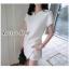 เสื้อผ้าแฟชั่นพร้อมส่ง เซต 2 ชิ้น เสื้อ+กางเกง สีขาวสไตล์ เรียบหรู thumbnail 3