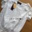 เสื้อผ้าเกาหลี พร้อมส่งเสื้อผ้าลูกไม้สีขาวสไตล์คลาสสิกวินเทจ thumbnail 7