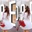 ( พร้อมส่งเสื้อผ้าเกาหลี) เดรสสีขาวเนื้อผ้าลินินทอปักลวดลายลูกไม้ ผ้าสวยมากค่ะมีtextureในตัว สม็อกรอบเอวค่ะ ปลายแขนจั๊มสามส่วน ชายกระโปรงระบาย มีซับในในตัวนะคะ thumbnail 6