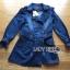 Tina Sporty Sweet Double-Breasted Denim Long Jacket thumbnail 7