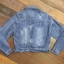 เสื้อผ้าเกาหลี พร้อมส่ง3D Butterfly Denim Jacket thumbnail 12