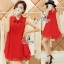 So Hot Ribbon Neck Sleeveless A Line Mini Dress thumbnail 1