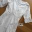 ชุดเดรสเกาหลี พร้อมส่งเดรสผ้าคอตตอนปักและฉลุลายทวิสต์สีขาว thumbnail 14
