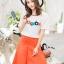 เสื้อผ้าเกาหลี พร้อมส่งCoCo Shirt + Skirt Pant Set thumbnail 1