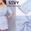 Mini dress รายริ้วฟ้าสลับขาว ทรงเก๋ thumbnail 7