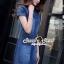 ชุดเดรสเกาหลี พร้อมส่งLV Pocket stick Denim Dress thumbnail 3