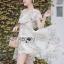 Leandra Magic Garden Ruffle Printed Chiffon Dress thumbnail 4
