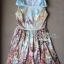 ( พร้อมส่ง) Lady Olivia Sweet Fantasy Print Sleeveless Dress เดรสแขนกุดพิมพ์ลายประดับโบช่วงไหล่ ตัวนี้เหมาะกับสาวหวานลุคคุณหนู thumbnail 4
