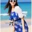 เสื้อผ้าเกาหลี พร้อมส่งเสื้อคลุมผ้าคอตตอนปักลายดอกไม้สไตล์เบสิก thumbnail 10