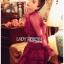 Eva Ruffle Crimson Red Lace Mini Dress thumbnail 5