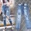 เสื้อผ้าเกาหลีพร้อมส่ง กางเกงยีนส์Boyfriendขายาว thumbnail 4
