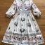 Deana Bohemian Printed & Embroidered White Dress thumbnail 7