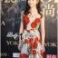 ชุดเดรสเกาหลี พร้อมส่งเดรสแขนกุดลายจุดพิมพ์ลายดอกไม้สีแดงสไตล์Dolce & Gabbana thumbnail 5
