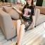 เสื้อผ้าเกาหลี พร้อมส่ง Dress ลูกไม้ฝรั่งเศส ลายโลโก้ Chanelรูปดอกไม้แต่ด้วยมุข thumbnail 4