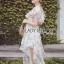 Leandra Magic Garden Ruffle Printed Chiffon Dress thumbnail 3